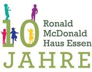 Logo 10 Jahre Ronald McDonald Haus Essen